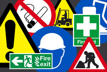 Helath and safety signs and labels